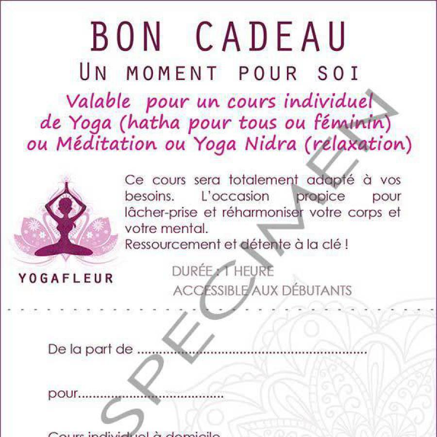 bon cadeau cours individuel yoga meditation